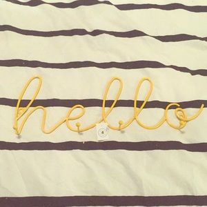 Other - Yellow Hello Hook Sign